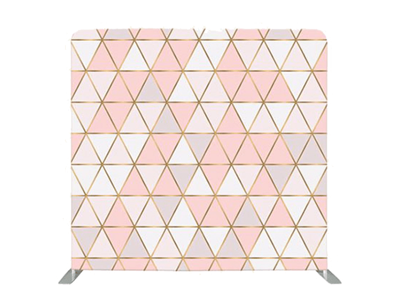 Pink Geometric Backdrop